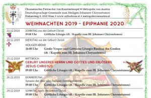 Programm Weihnachten 2019