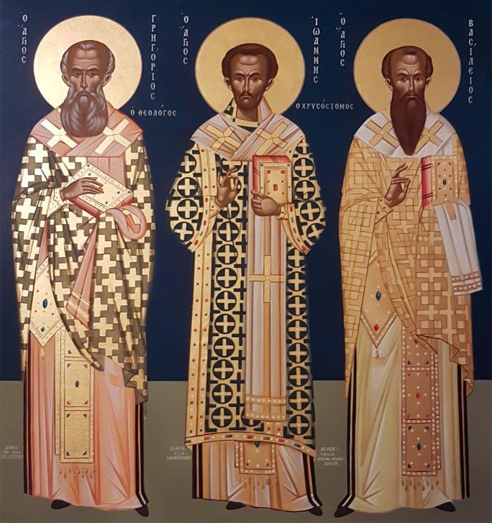 Die Drei Hierarchen - Ikonographie in der Kapelle am Hafnersteig 8, Wien